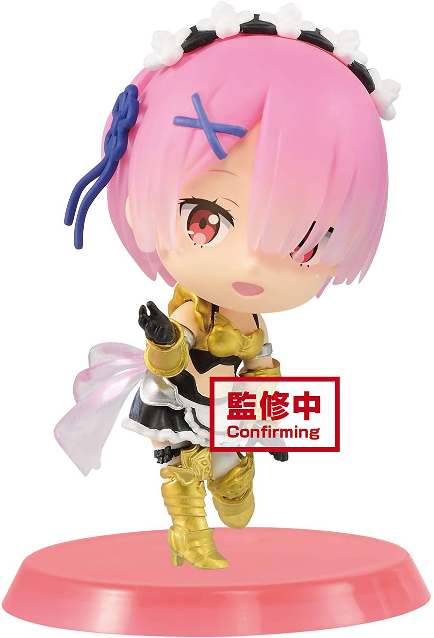 Q posket Re:Zero Starting Life in Another World Rem Ram Figure 2 New In Box
