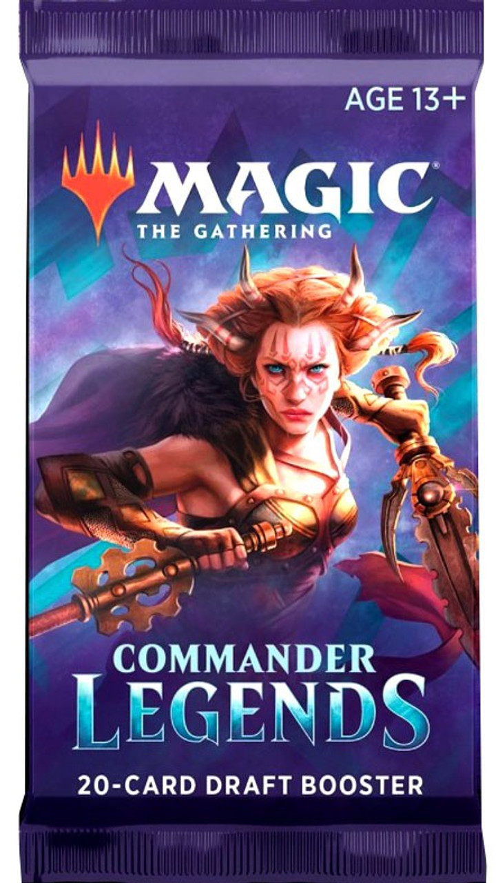 Magic The Gathering Trading Card Game Commander Legends Draft Booster Pack  20 Cards Wizards of the Coast - ToyWiz