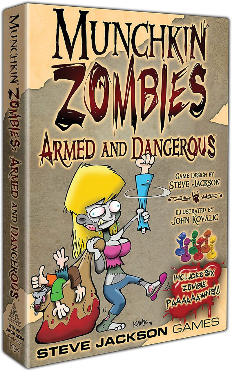 Armed And Dangerous Roblox Song Id Munchkin Munchkin Zombies Armed Dangerous Card Game Steve Jackson Games Toywiz