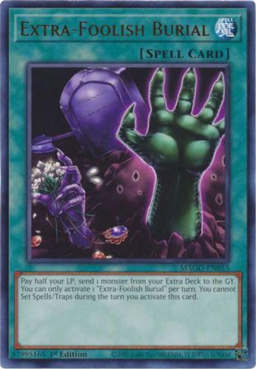 Yugioh Maximum Gold Single Card Rare Extra Foolish Burial Mago En055 Toywiz