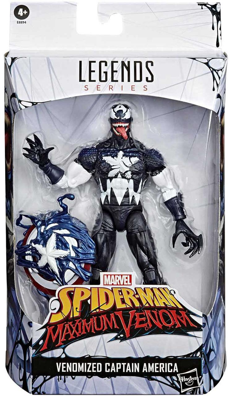 Marvel Legends VENOMIZED CAPTAIN AMERICA Spider-Man Maximum Venom Exclusive