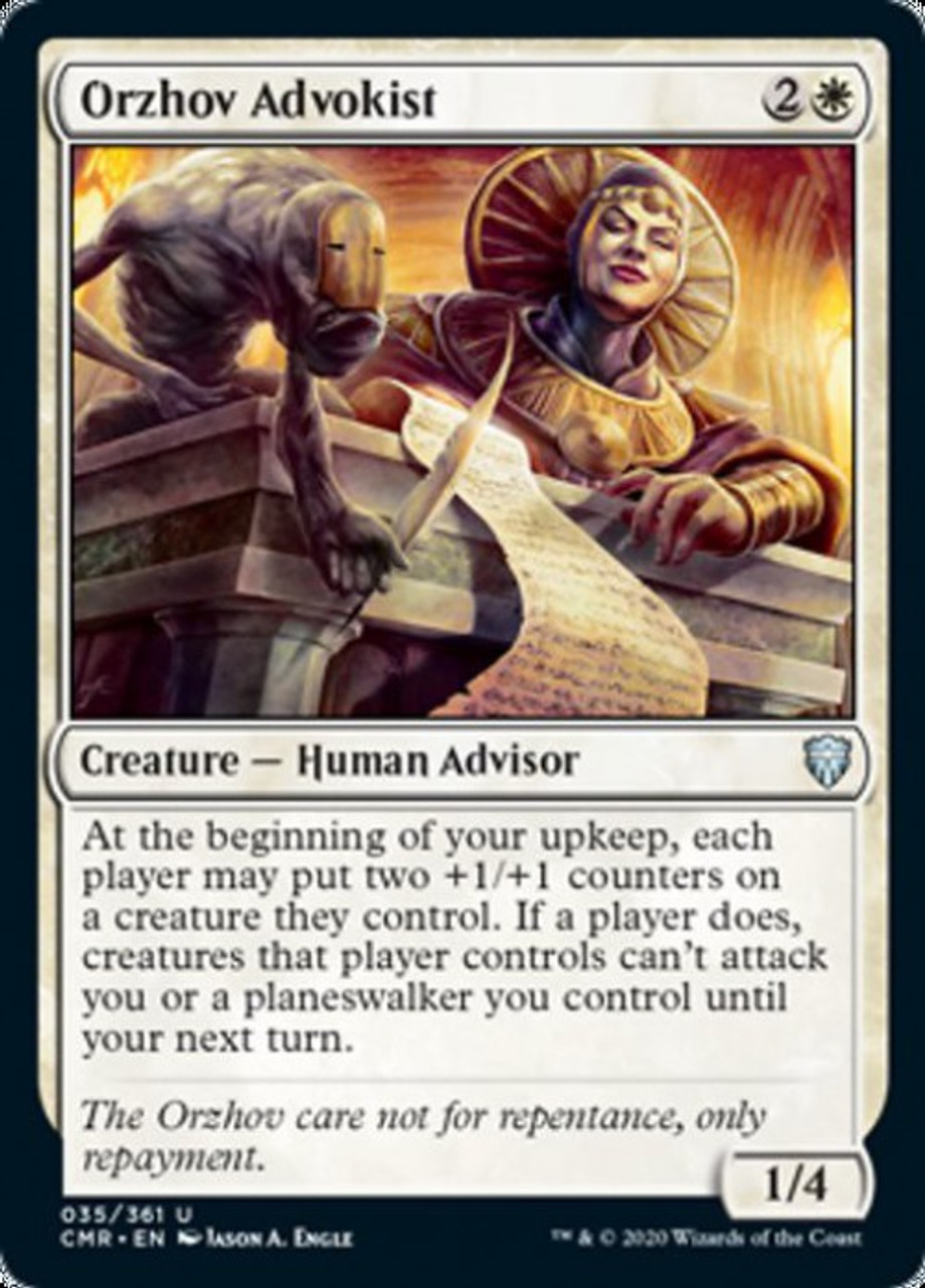 Magic The Gathering Commander Legends Single Card Uncommon Orzhov Advokist 35 Toywiz Orzhov zombies *pioneer* pioneer wb (orzhov) ultarian. toywiz com