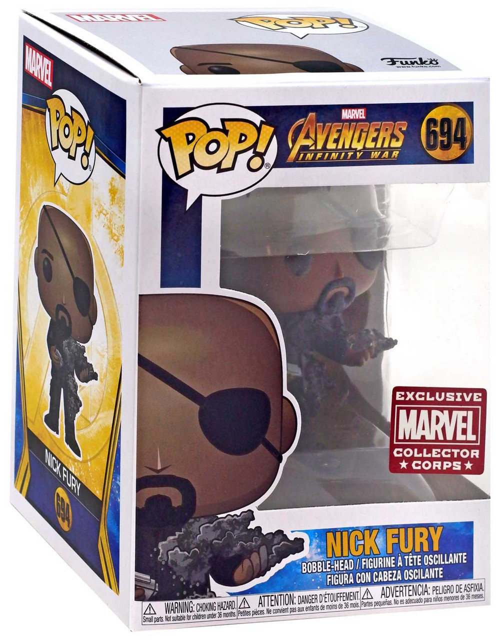 Funko Marvel Avengers Infinity War Pop Marvel Nick Fury Exclusive Vinyl Figure 694 Toywiz