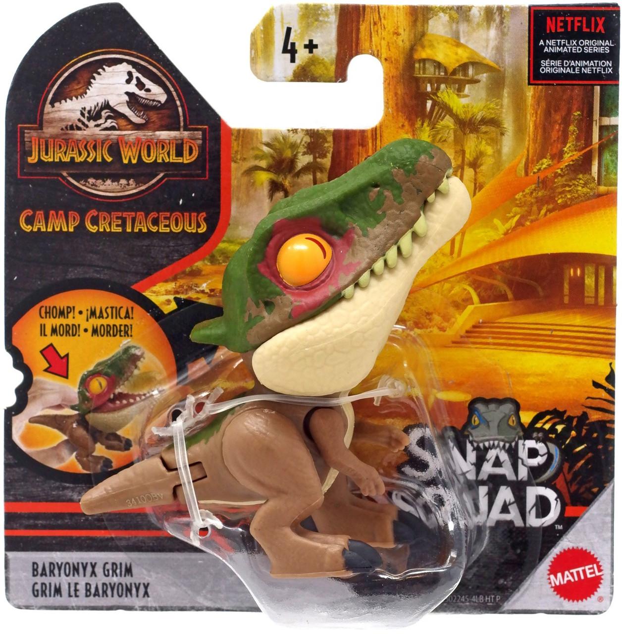 Jurassic World BARYONYX Snap Squad Figure Dinosaur Mattel NEW