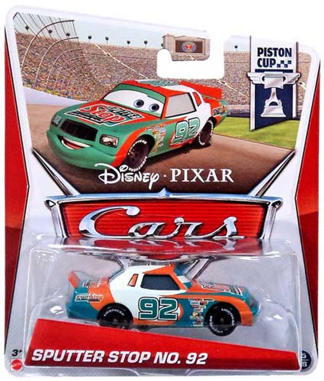 Disney Pixar Cars Series 3 Sputter Stop No 92 155 Diecast Car Mattel Toys Toywiz