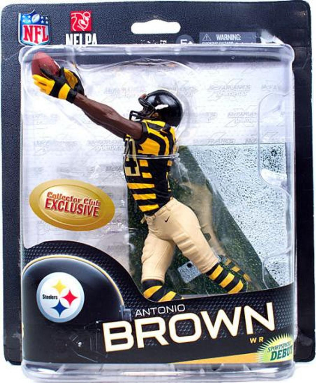 pretty nice a083b f7786 McFarlane Toys NFL Pittsburgh Steelers Sports Picks Series 32 Antonio Brown  Exclusive Action Figure [Retro Uniform]