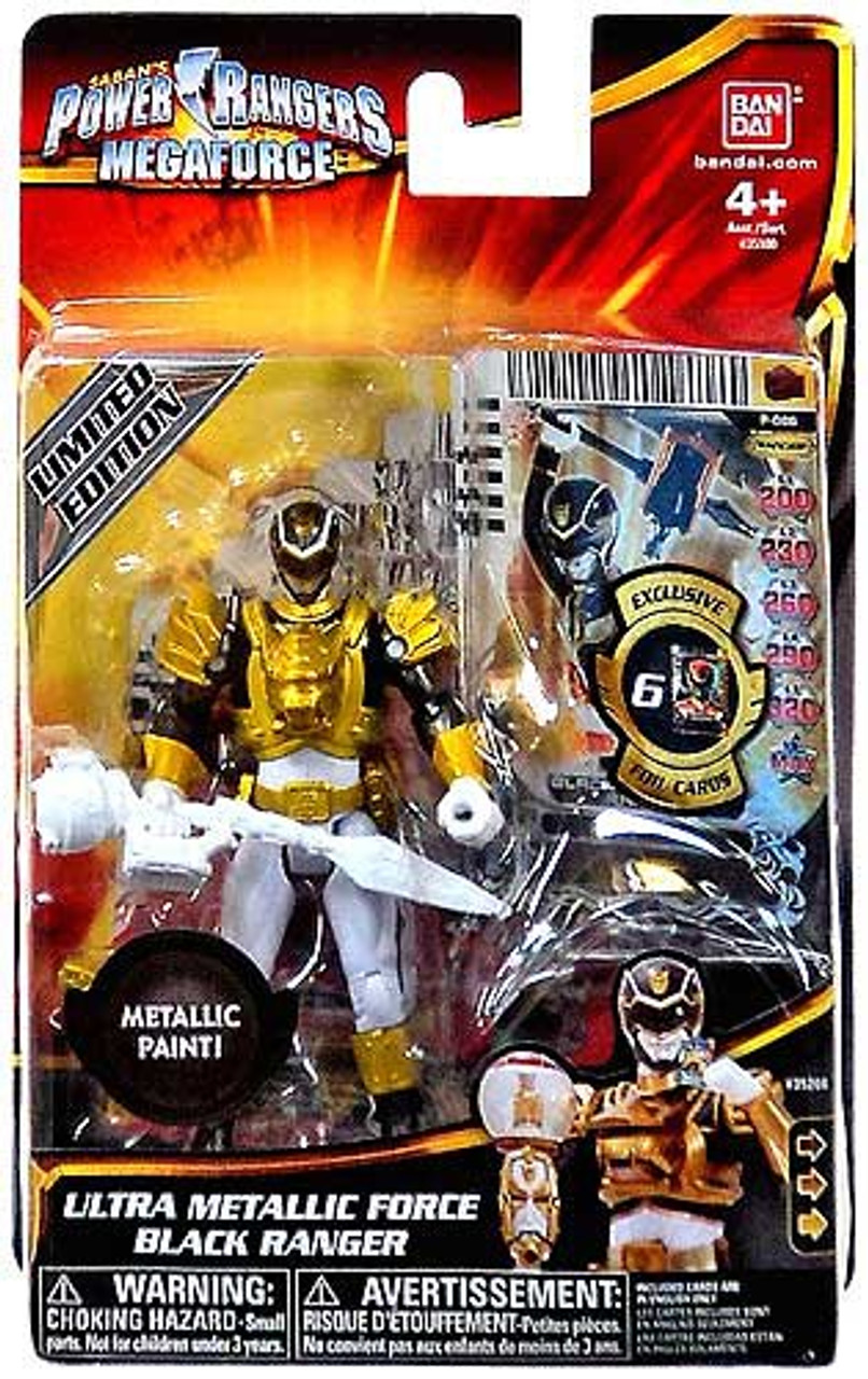 Power Rangers Megaforce Ultra Metallic Force Black Ranger Action Figure
