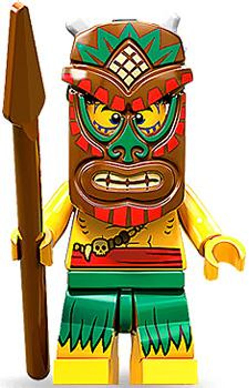 LEGO Minifigures Series 11 Tiki Isalnd Warrior Minifigure ...