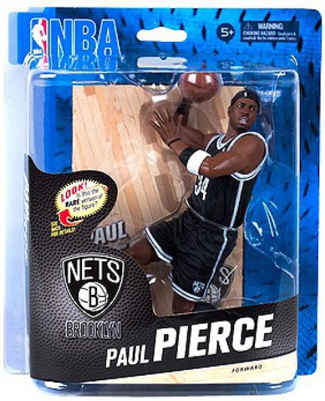 online retailer c9f85 4ca4a McFarlane Toys NBA Brooklyn Nets Sports Picks Series 24 Paul Pierce Action  Figure [Black Jersey]