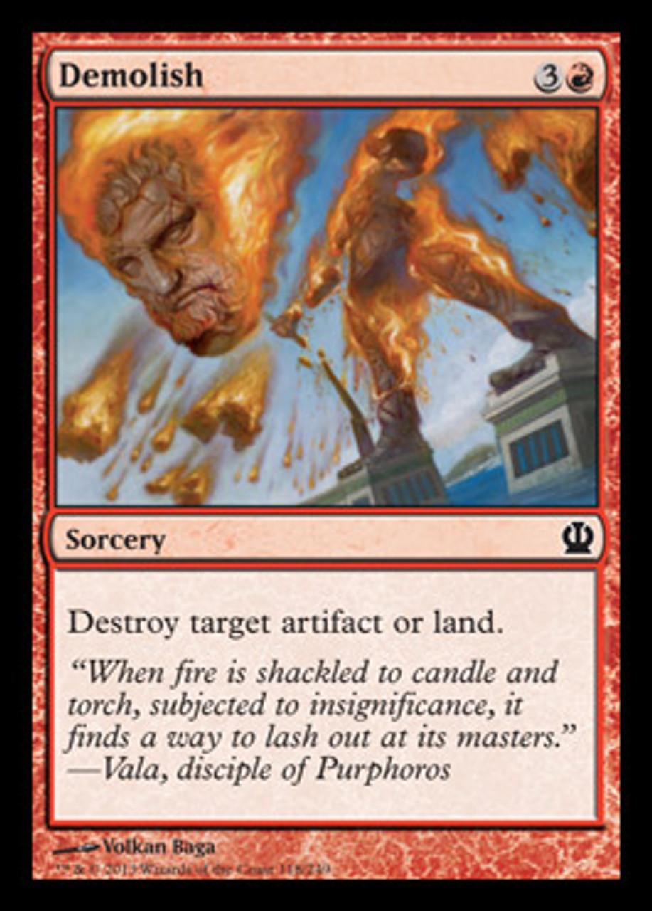 Magic The Gathering Theros Single Card Common Demolish 118 Toywiz