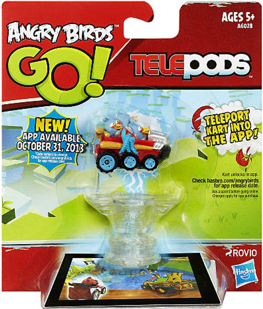 Angry Birds GO Telepods Kart Series 1 Blue Bird Figure Pack Hasbro ...