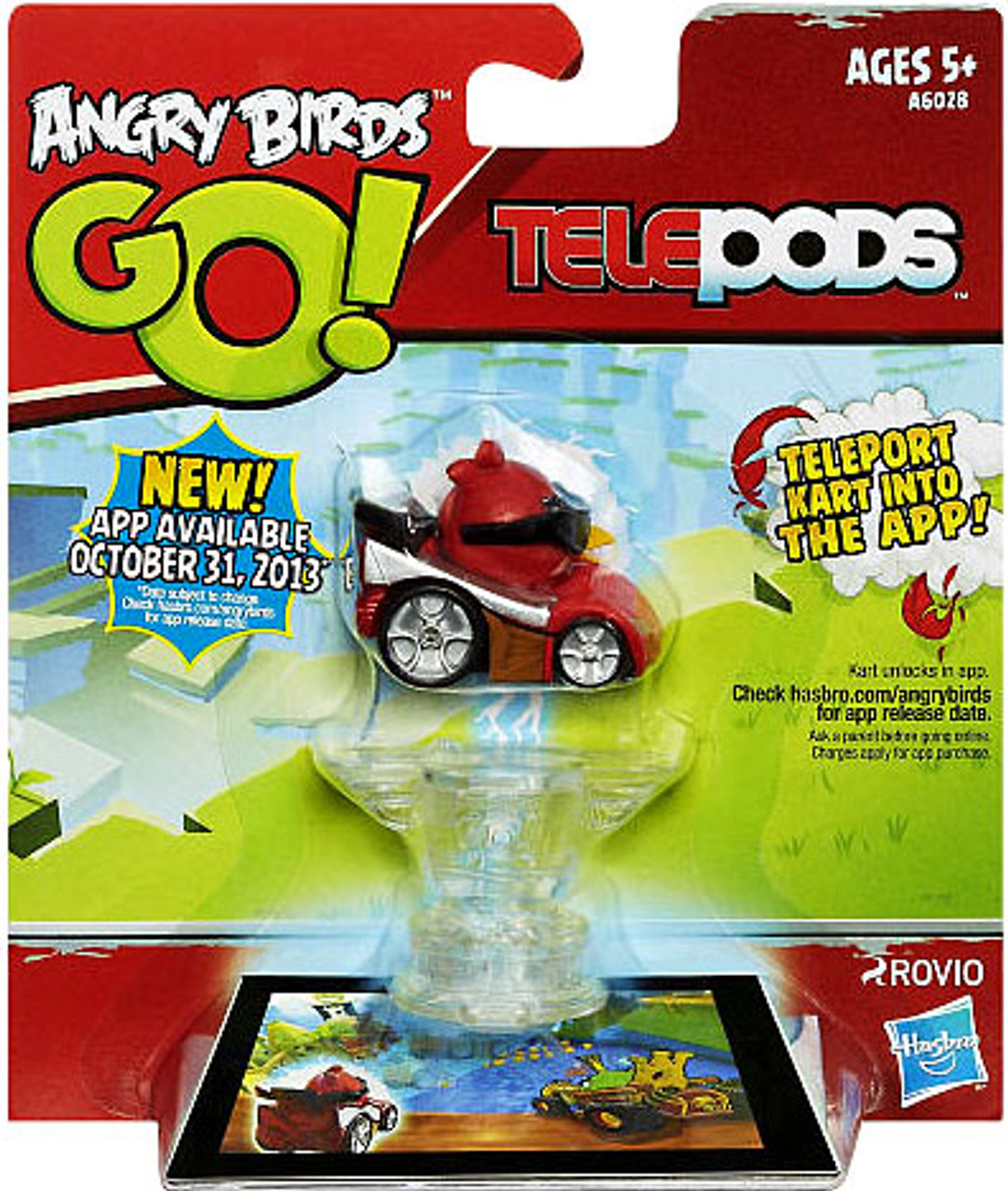 Angry Birds GO Telepods Kart Series 1 Red Bird Figure Pack Hasbro ...