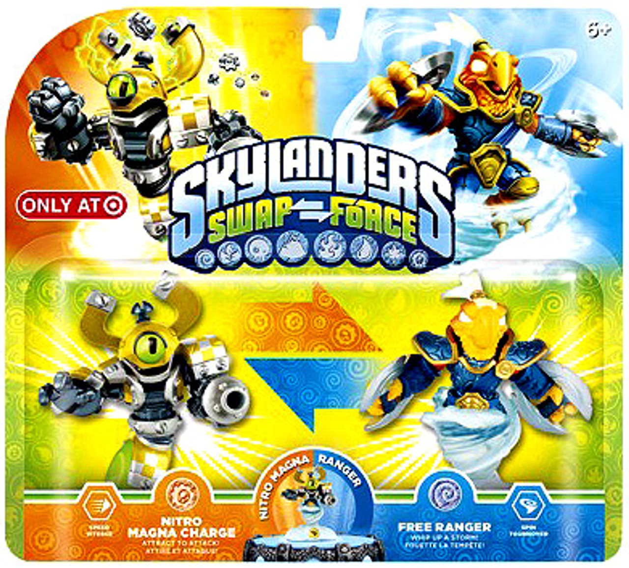 Skylanders Swap Force Swappable Nitro Magna Charge Free Ranger Exclusive Figure 2 Pack Activision Toywiz