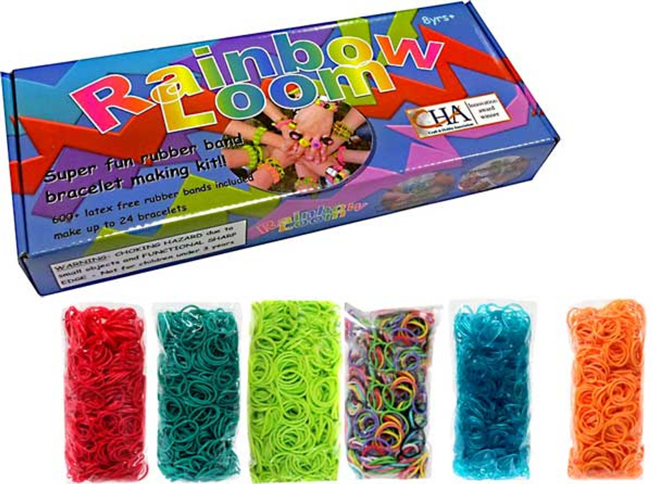 clips and tool x 2 packs 600 rainbow loom bands