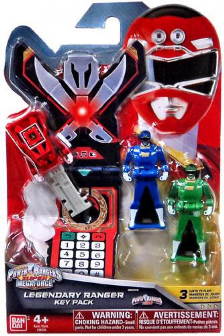 Turbo Legendary Ranger Key Pack ~ Power Rangers Super Megaforce Blue, Green