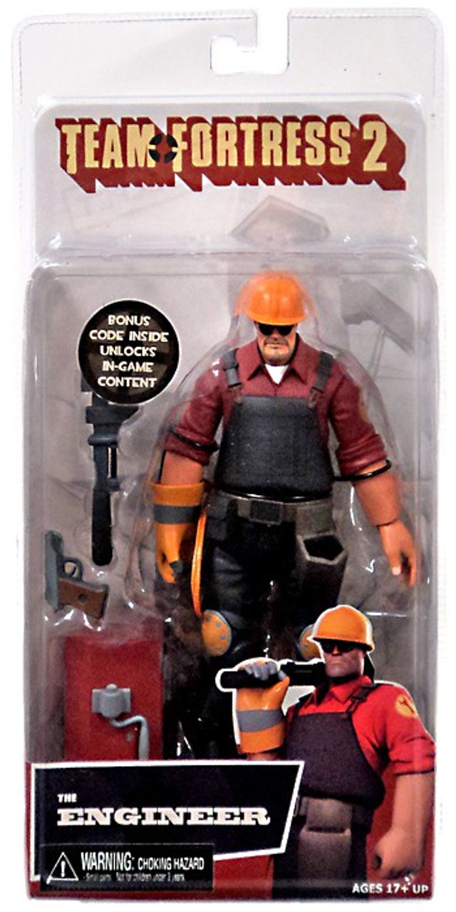 Neca Team Fortress 2 Red Series 3 The Engineer Action Figure Toywiz