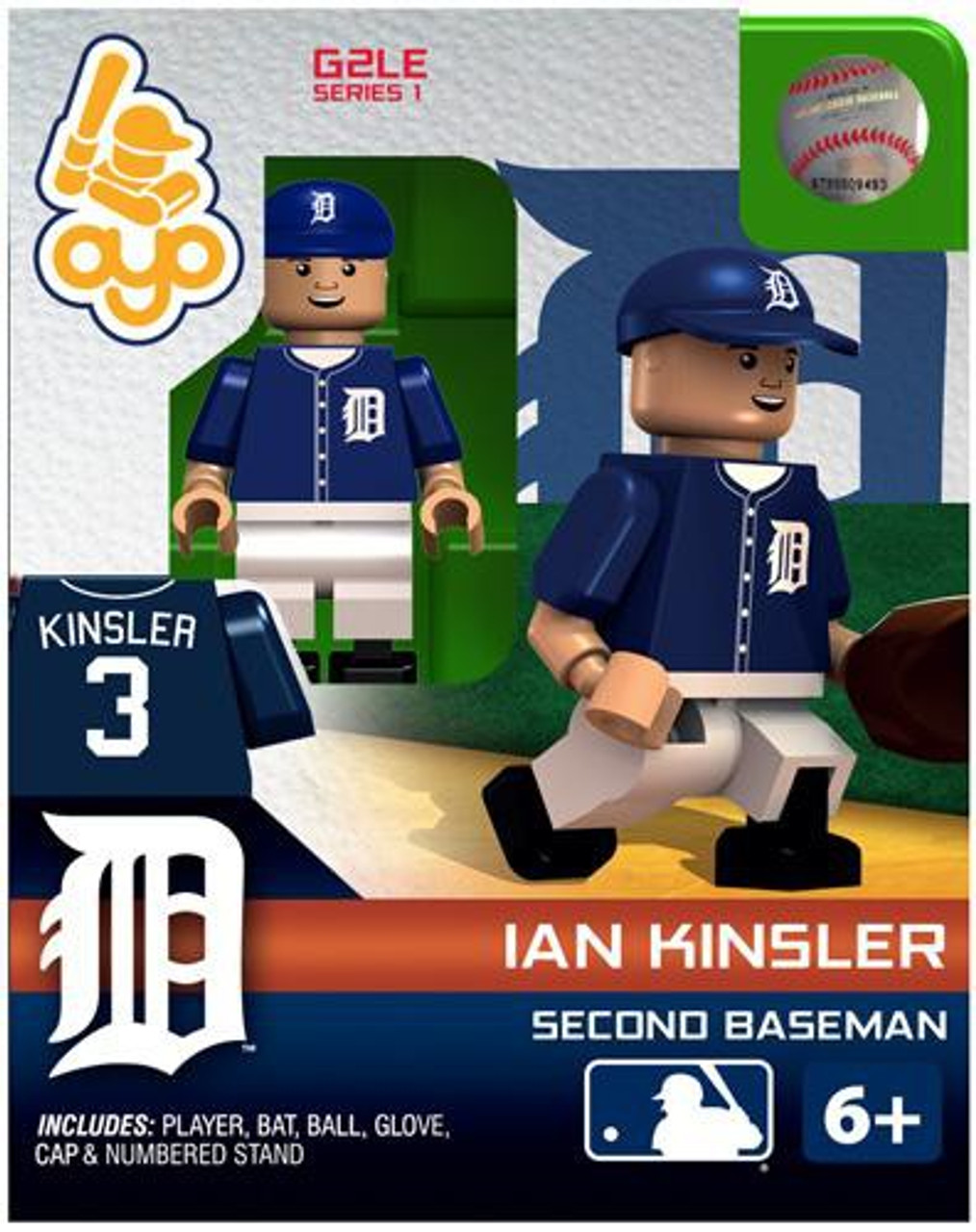 4d853c8f MLB Detroit Tigers MLB Generation 2 Series 1 Ian Kinsler Minifigure OYO -  ToyWiz