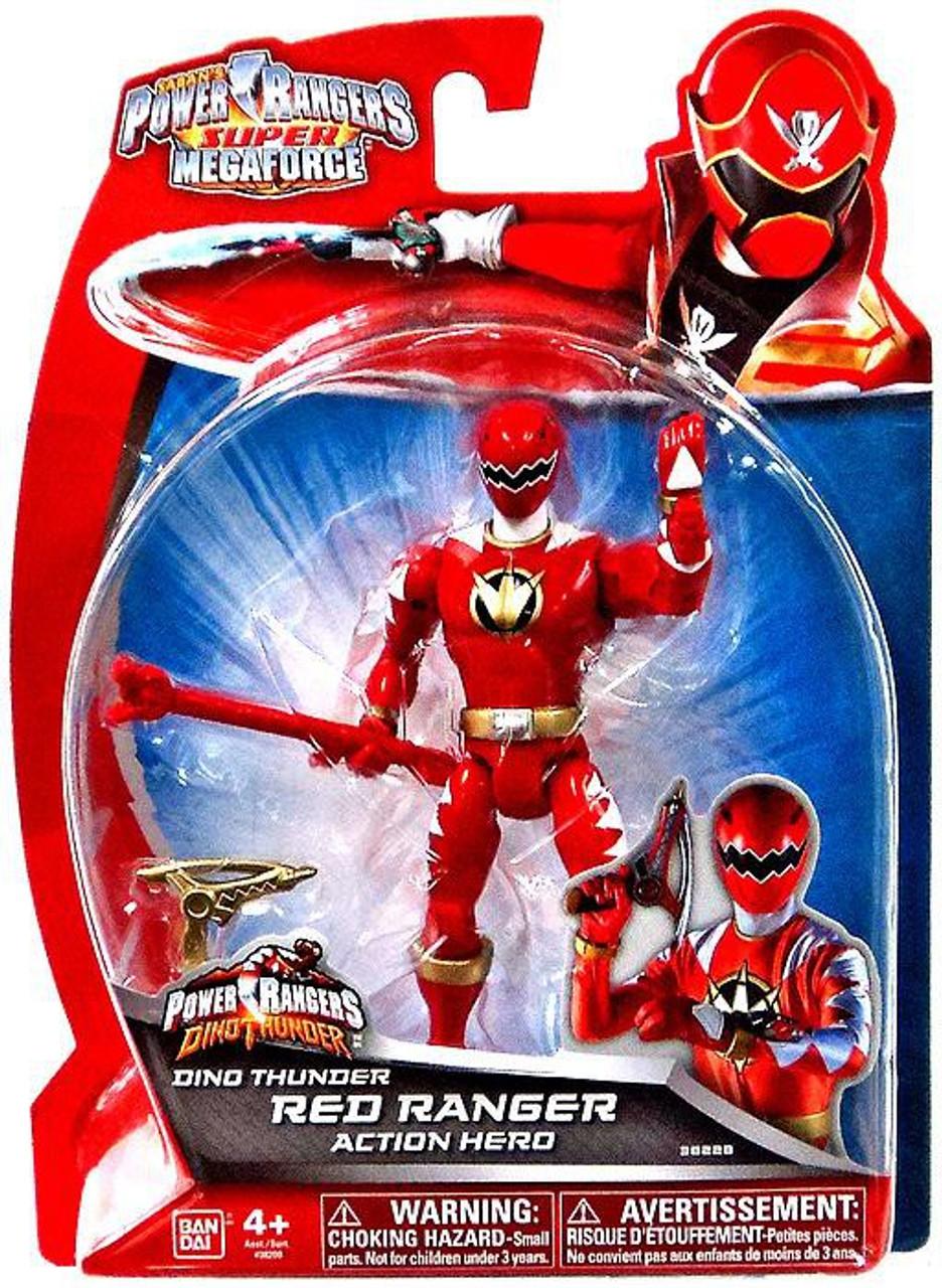 Power Rangers Super Megaforce Dino Thunder Red Ranger Action
