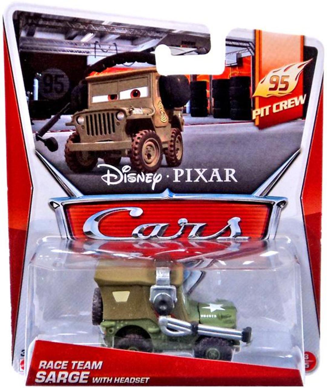 Disney Store Pixar The World of Cars Sarge Die Cast  NEW