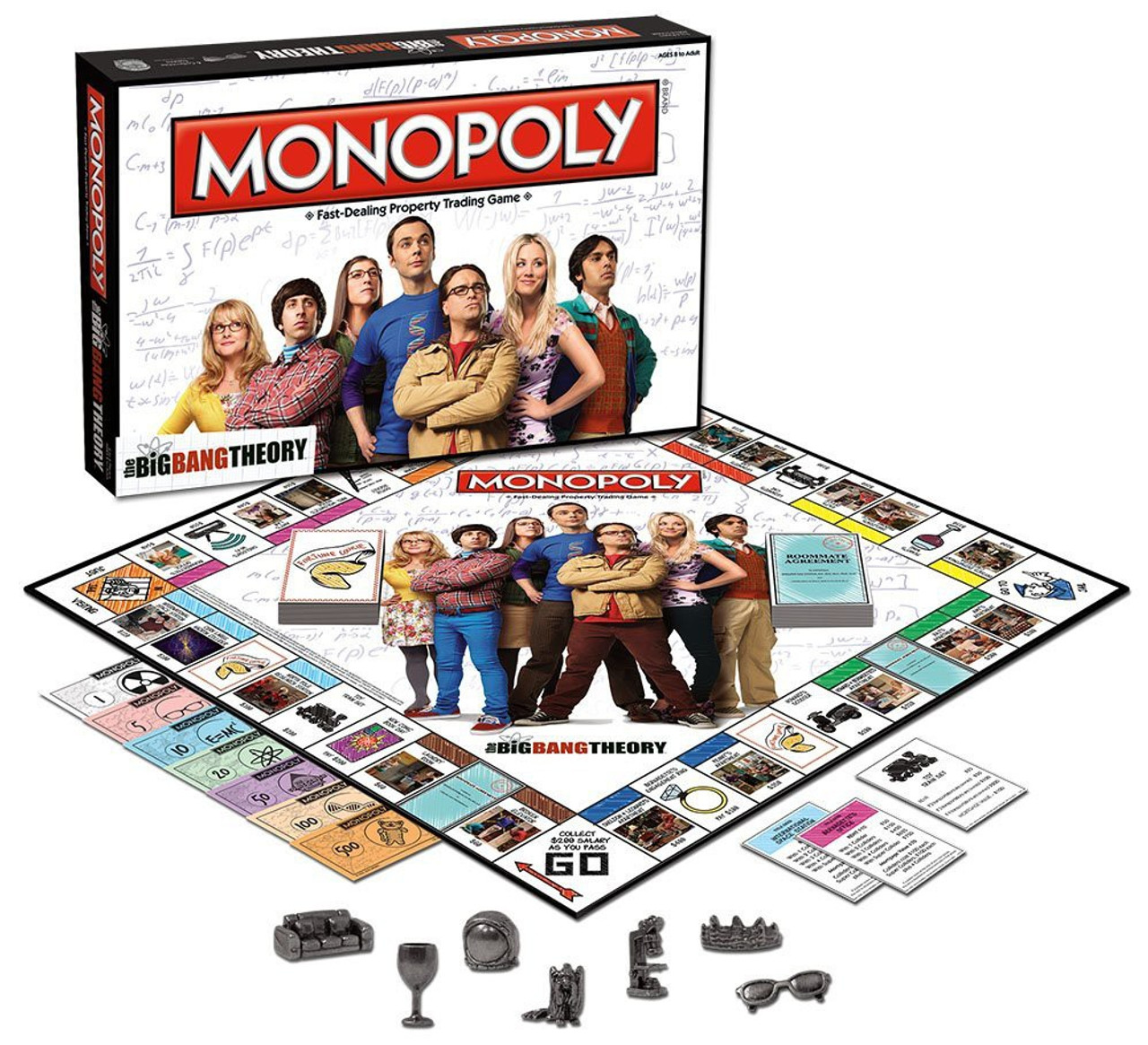 NEU MONOPOLY The Big Bang Theory Fast-Dealing Property Trading Game Englisch