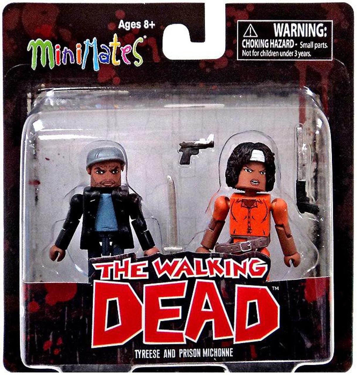 Tyreese /& Prison Michonne THE WALKING DEAD Minimates