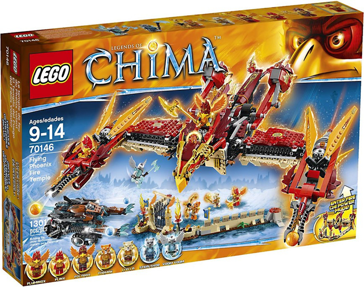 LEGO Legends of Chima Flying Phoenix Fire Temple Set #70146