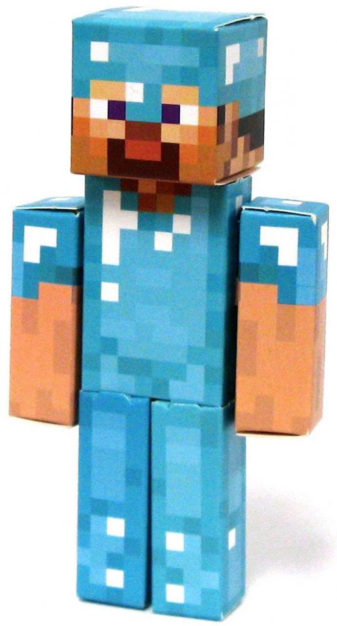 Minecraft Diamond Steve Papercraft Single Piece Jazwares Toywiz