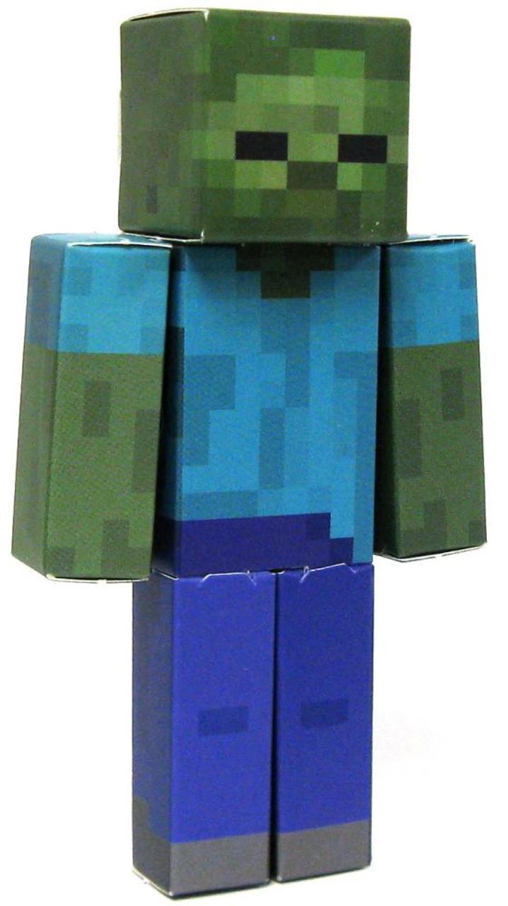Minecraft Zombie Papercraft Single Piece Jazwares - ToyWiz