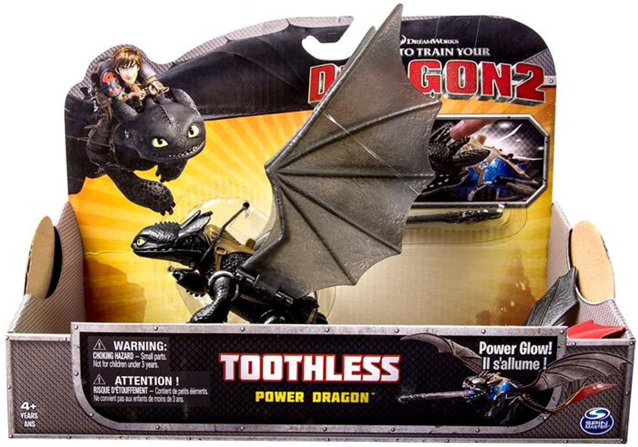 How To Train Your Dragon 2 Power Dragons Toothless Action Figure Power Glow