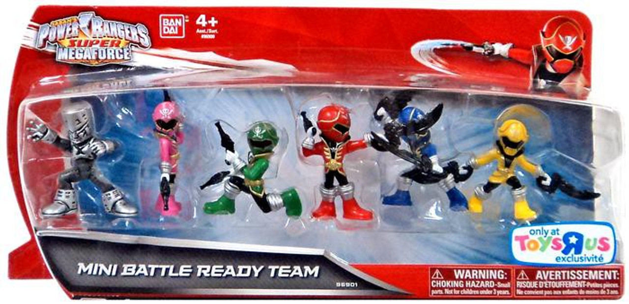 Bandai Power Rangers Mini Battle-Ready lots of 4 Figures Toys No Card
