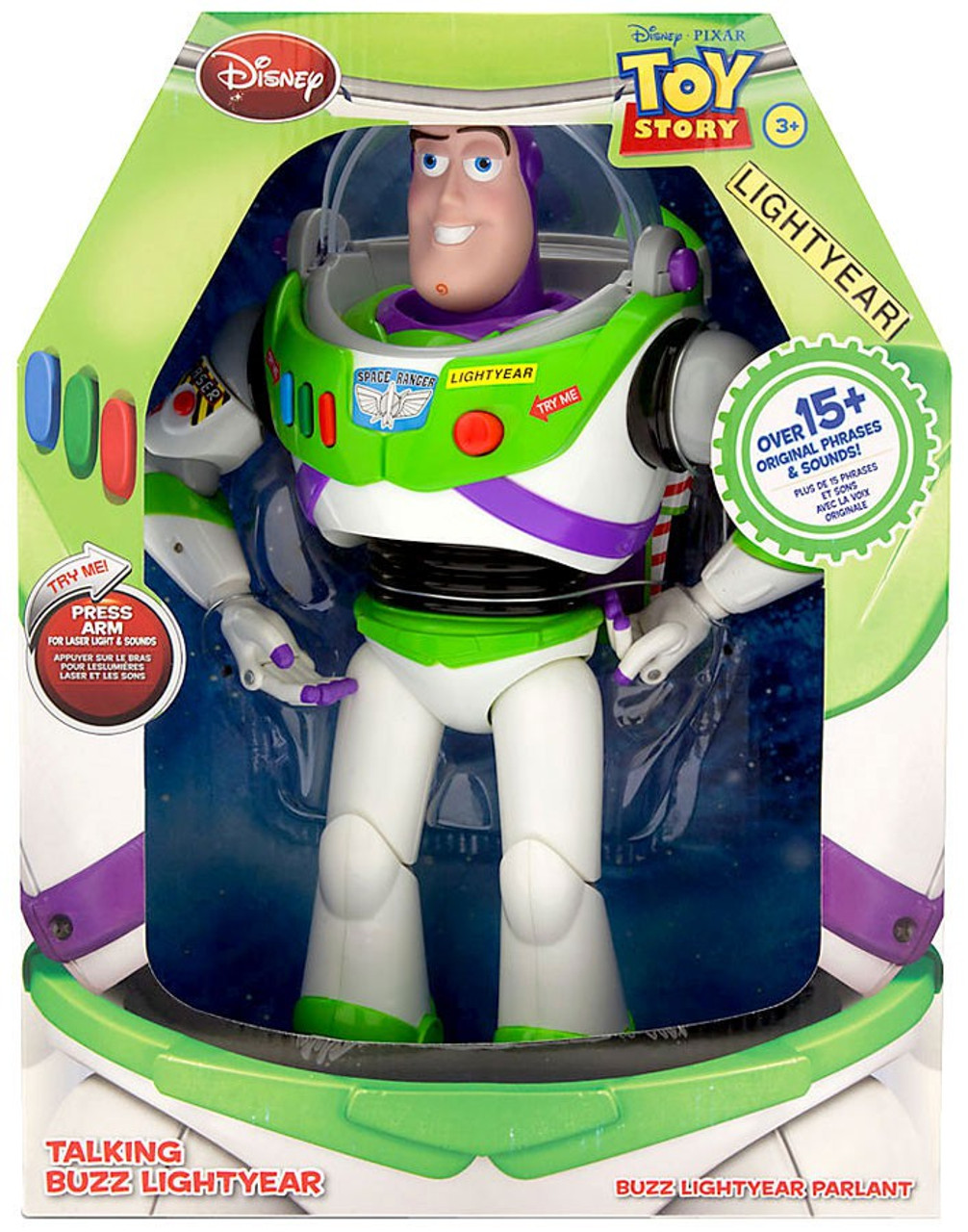 Toy Story Talking Buzz Lightyear Of Star Command 15 Phrases Sound PVC Figure Toy