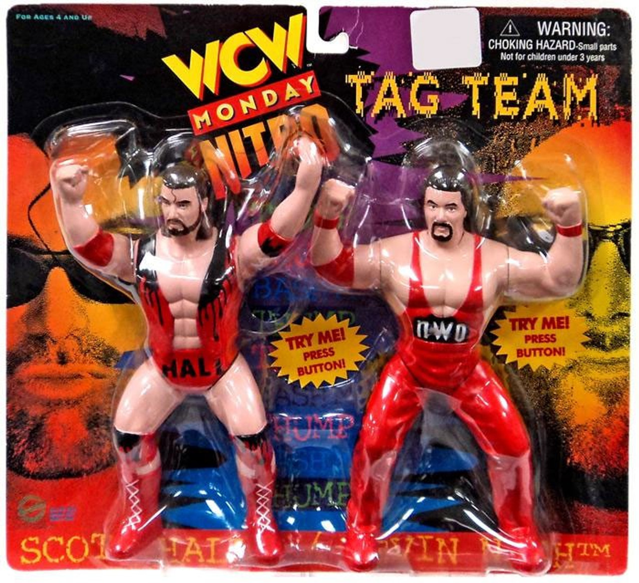 WWE Wrestling WCW Monday Nitro Tag Team Scott Hall & Kevin Nash Action  Figure 2-Pack