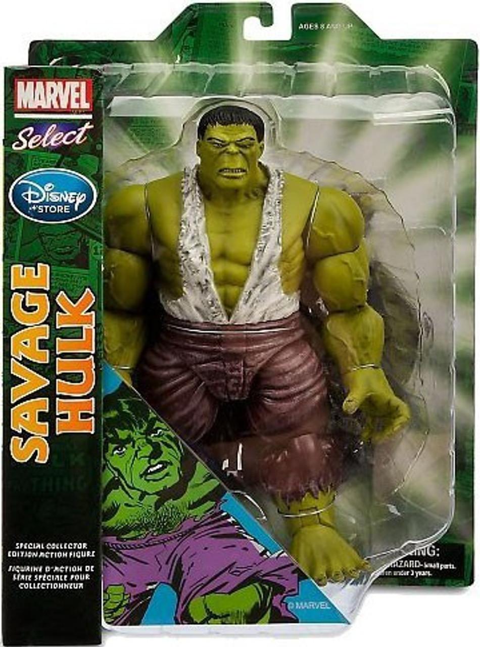 Marvel Select Savage Hulk Disney   Amazing figure New 10/'/'