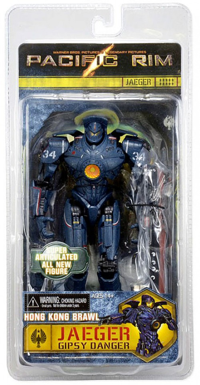 "NECA Pacific Rim Gipsy Danger Hong Kong Brawl 7/"" Action Figure Robot Collect New"