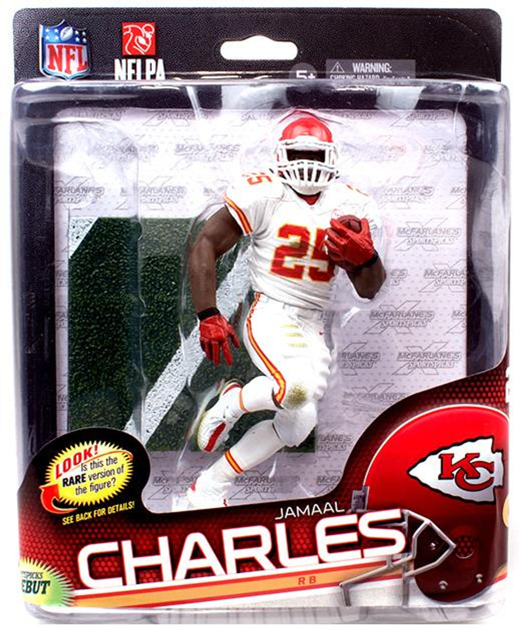 McFarlane Toys NFL Kansas City Chiefs Sports Picks Series 34 Jamaal Charles  Collector Level Action Figure White Jersey - ToyWiz b6df28fd0