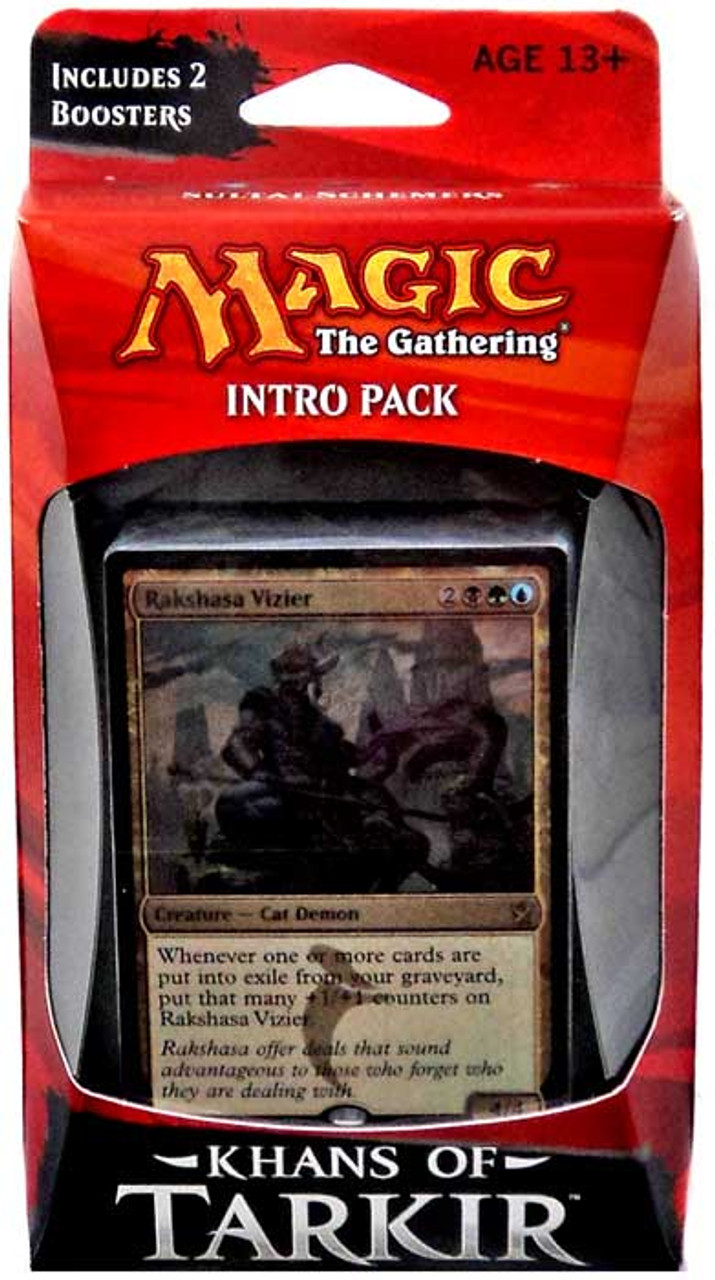 Includes 2 Booser Packs Wizards of the Coast Green Blue Red Khans of Tarkir Intro Pack