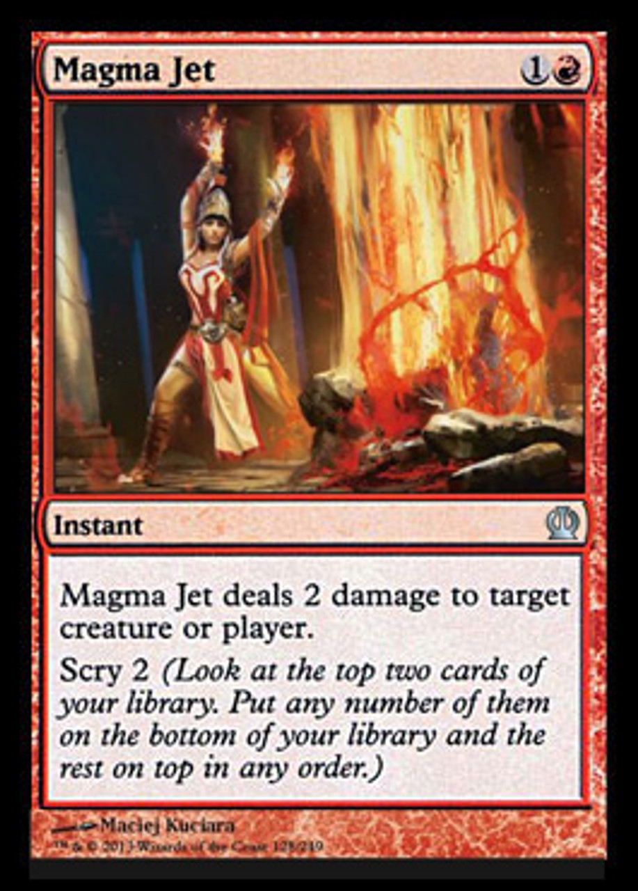 Magic The Gathering Theros Single Card Uncommon Magma Jet 128 Foil