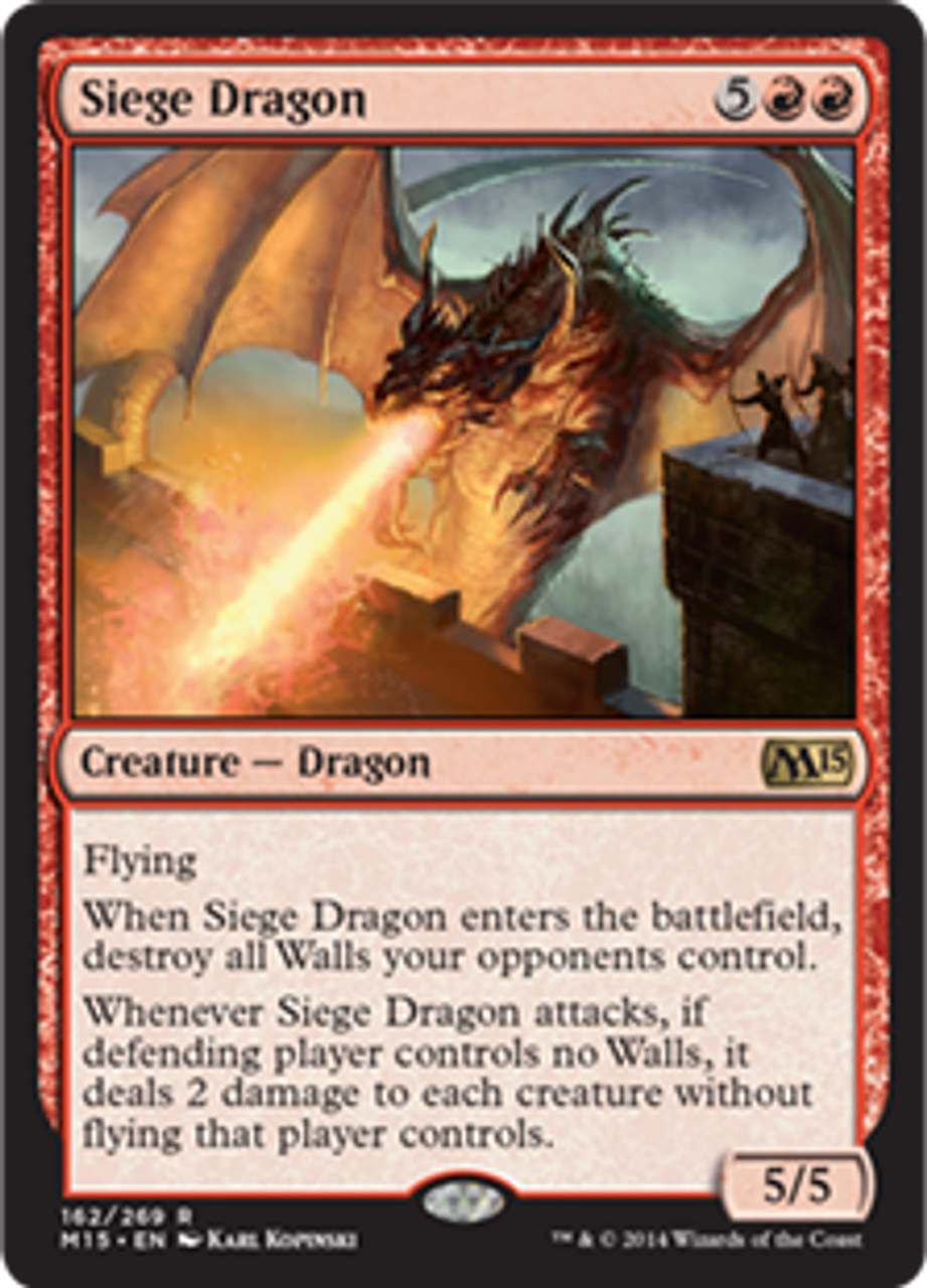 Magic The Gathering Magic 2015 Single Card Rare Siege Dragon 162 Foil - ToyWiz