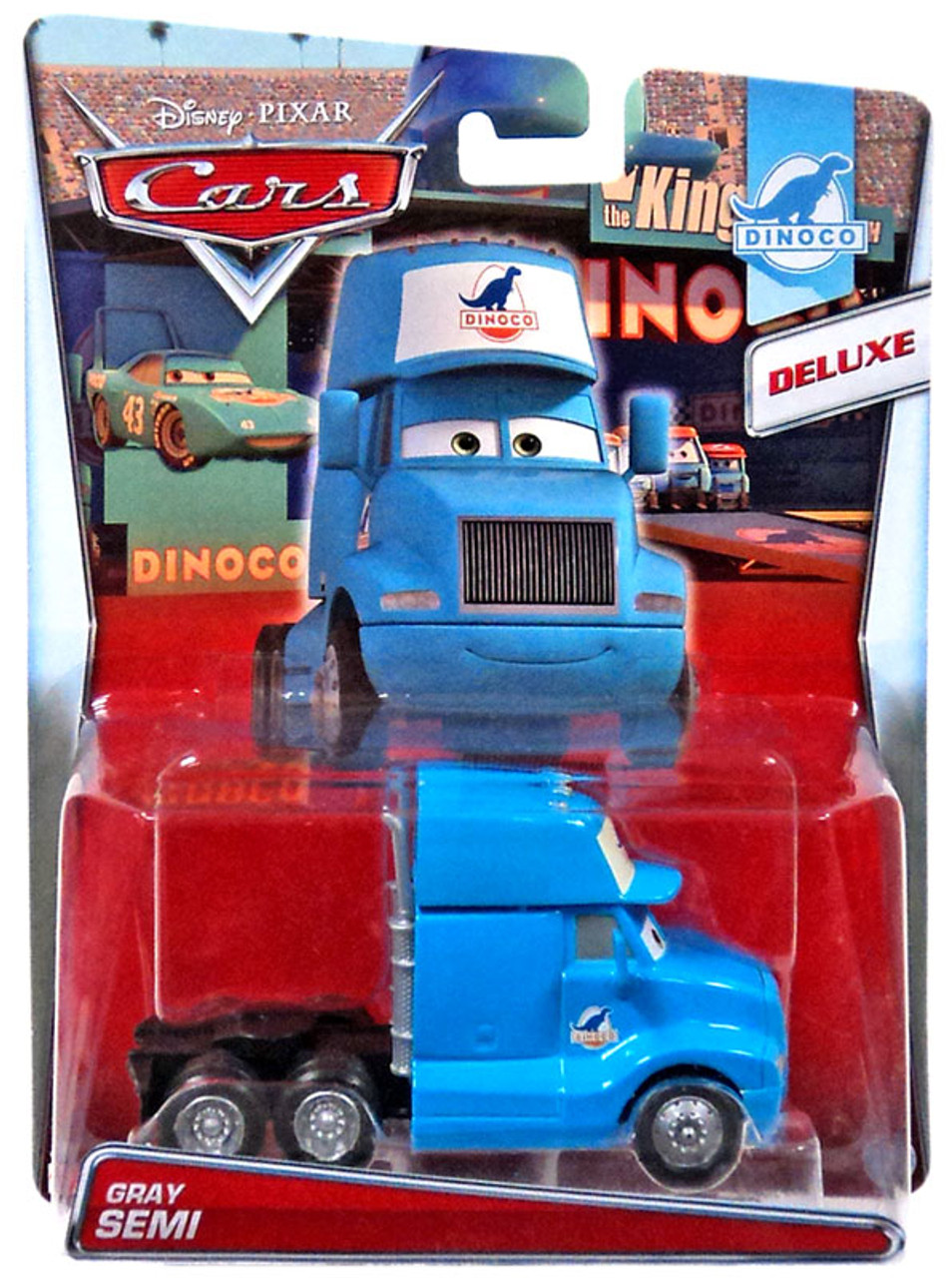 Disney / Pixar Cars Cars Deluxe Oversized Gray Semi Diecast Car #2/8  [Dinoco]