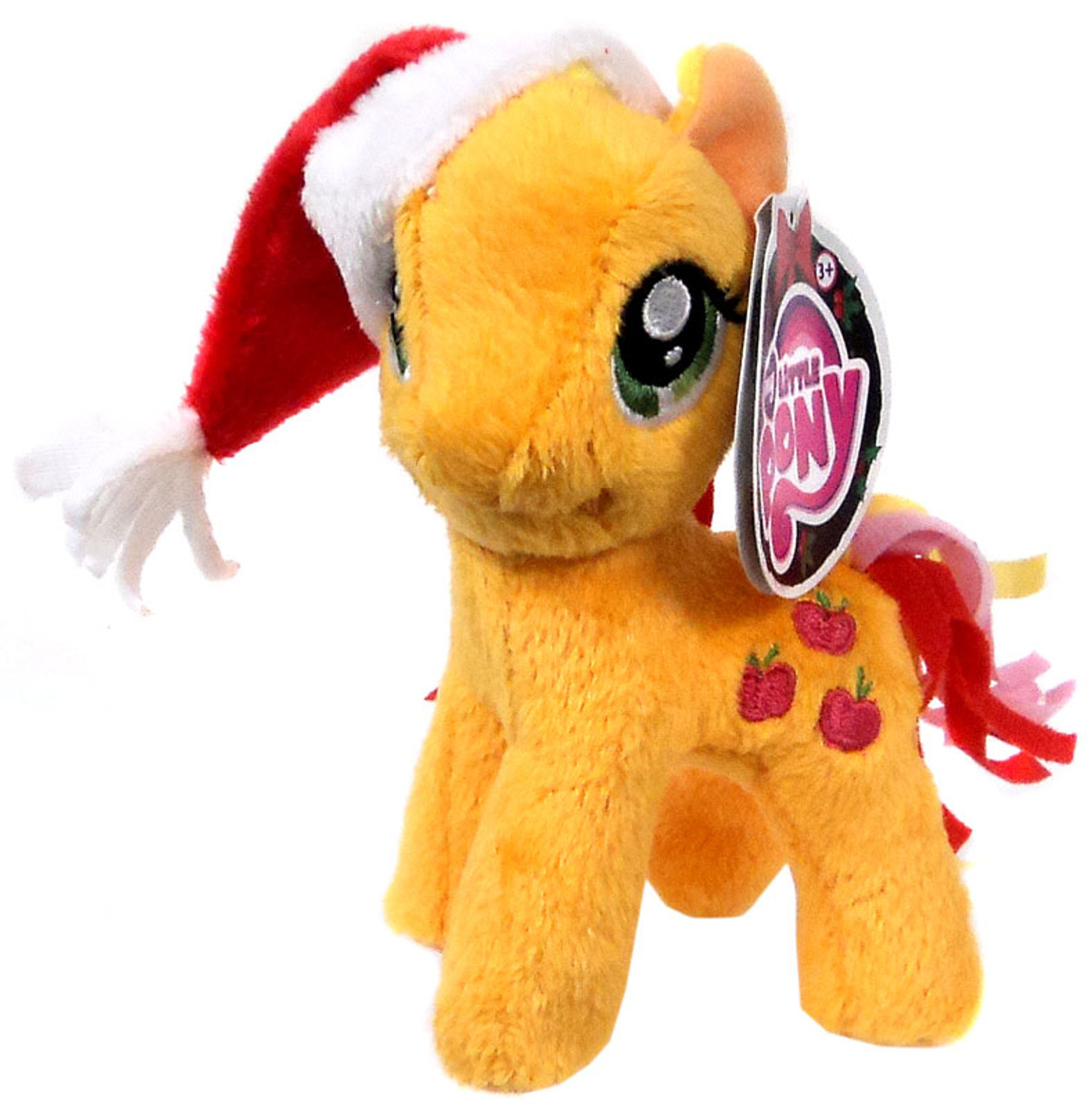 386450def29 My Little Pony Friendship is Magic Holiday Applejack 5 Plush With Santa Hat  Funrise - ToyWiz