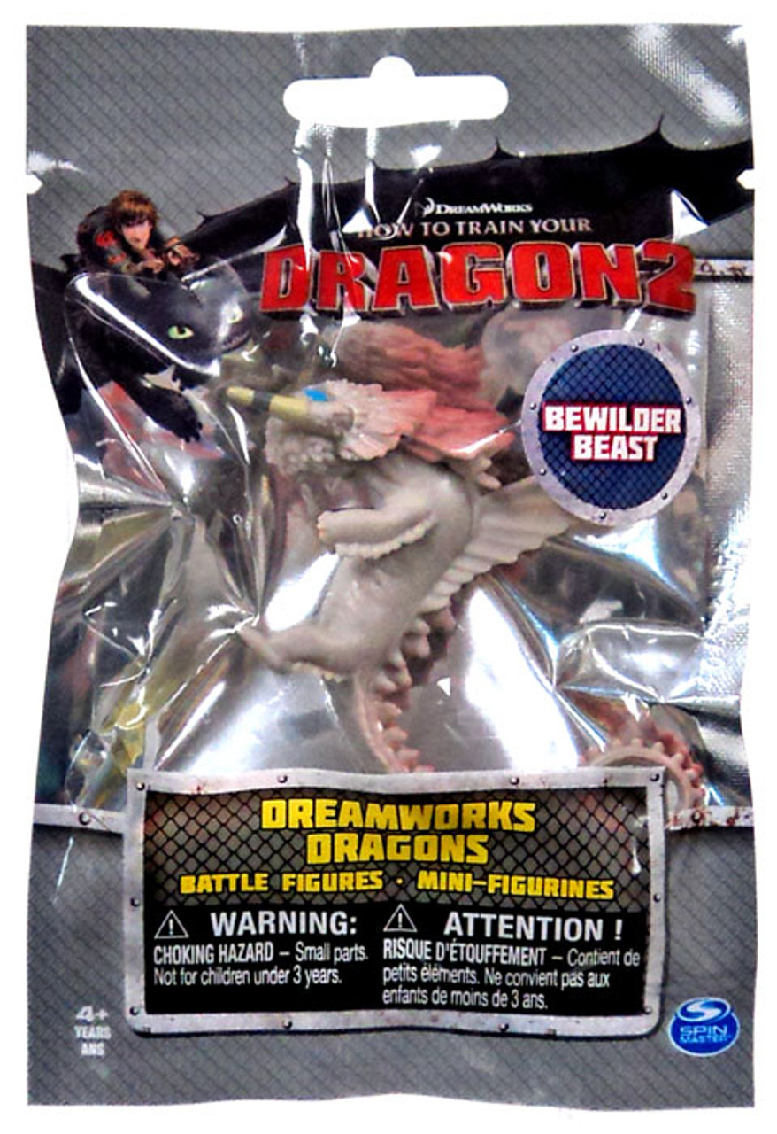 How To Train Your Dragon 2 Dreamworks Dragons Battle Figures Bewilder Beast Mini Figure Spin Master Toywiz