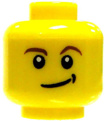 d11ff615dcb LEGO Minifigure Parts Basic Head with Smirk and Dimple Minifigure Head   Loose