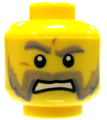 NEW Lego Pirate MINIFIG HEAD Male w//Missing Tooth Smile City//Agents//Police//Dino