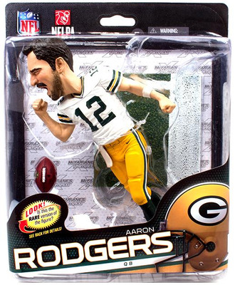 66f17ae5d McFarlane Toys NFL Green Bay Packers Sports Picks Series 34 Aaron Rodgers  Collector Level Action Figure  Big Head