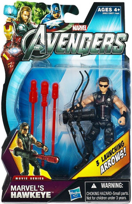 """MARVEL/'S HAWKEYE The Avengers Movie Comic Series 4/"""" inch Action Figure #5 2012"""