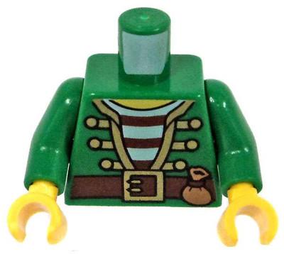 Lego 10 New Torso Police Jacket Dress with Black Tie Red Sash Black Belt Parts