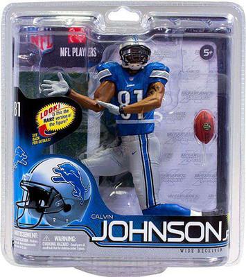 06b03c22c McFarlane Toys NFL Detroit Lions Sports Picks Series 30 Calvin Johnson Action  Figure  Blue Jersey
