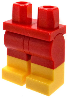 cec3106d795 LEGO Red Hips   Legs with Yellow Boots Loose Legs  Dual Color Loose