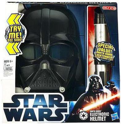 Star Wars 2012 Exclusive Darth Vader Electronic Helmet Lightsaber Sonstige
