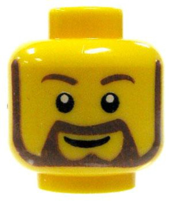 LEGO NEW MINIFIGURE HEAD WITH SCARS AND EYE PATCH MECHANICAL SCOWL